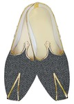 Juti For Men Gray Jute Wedding Shoes Bollywood Shoe For Groom