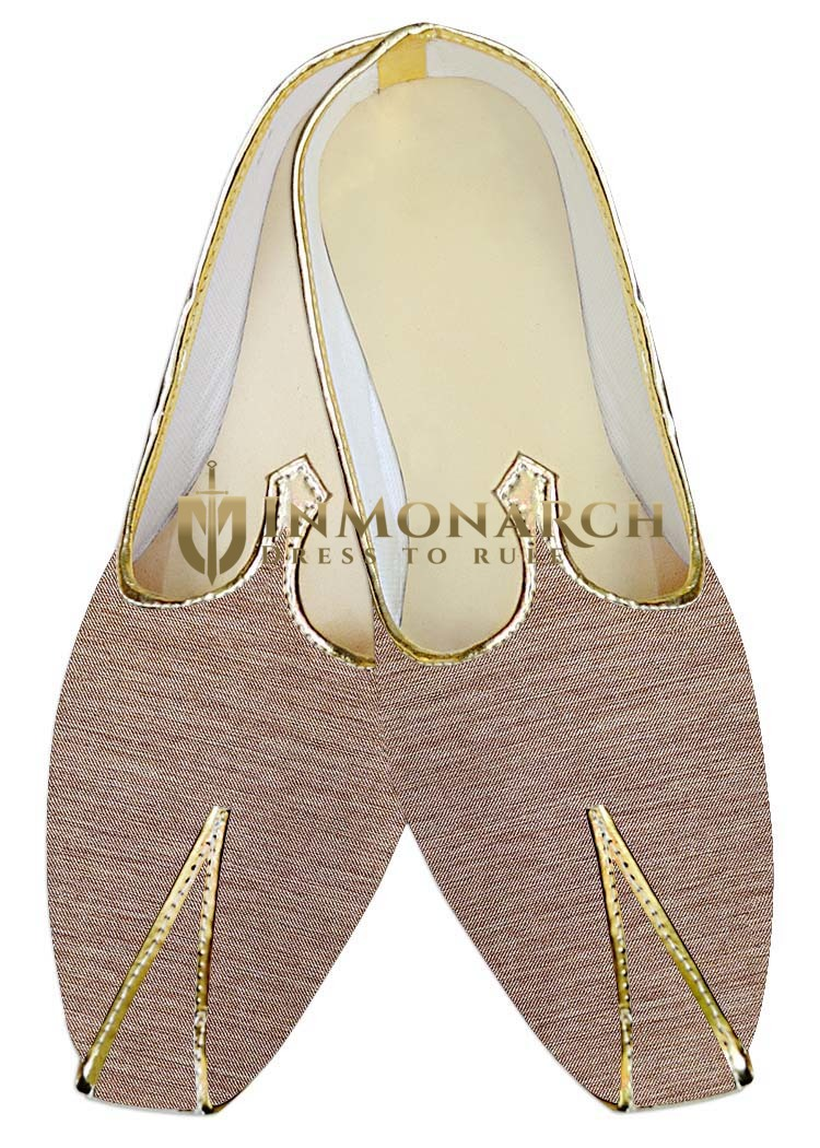 Mens Indian Bridal Shoes Beige Jute Wedding Shoes Handmade
