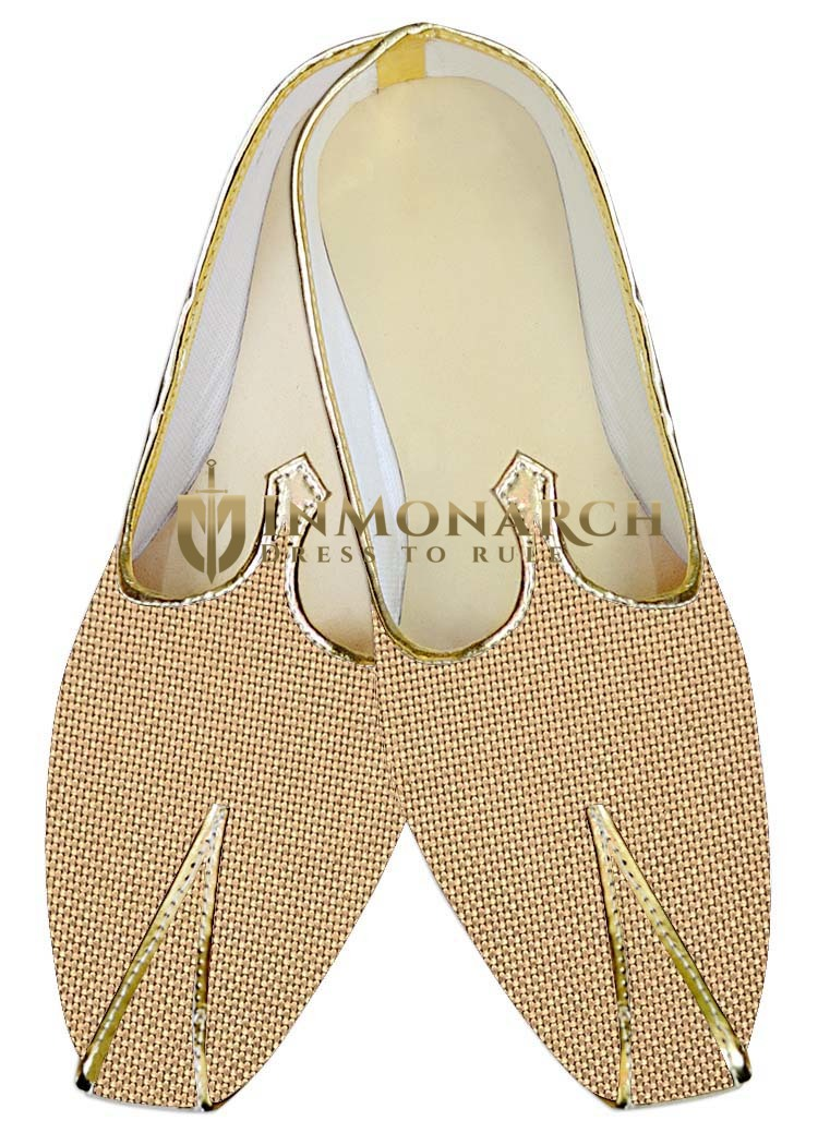 Indian Mens Shoes Bisque Jute Wedding Shoes Partywear Indian Wedding Shoes