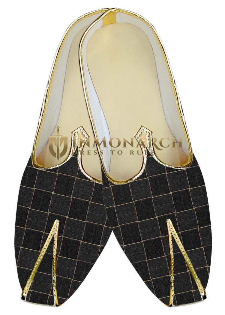 Mens Wedding ShoeFor Groom Gray Checks Wedding Shoes