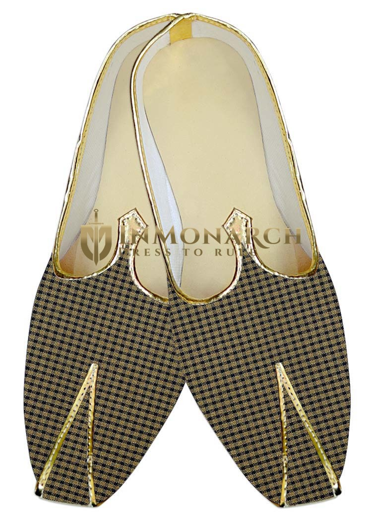 Mens Indian Bridal Shoes Bronze Indian Wedding Shoes