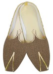 Mens Wedding Shoe For Groom Brown Jute Mojari Indian Wedding