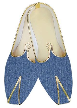 Indian WeddingShoes For Men Sky Blue Jute Wedding Shoes