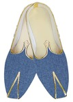 Indian Wedding Shoes For Men Sky Blue Jute Wedding Shoes