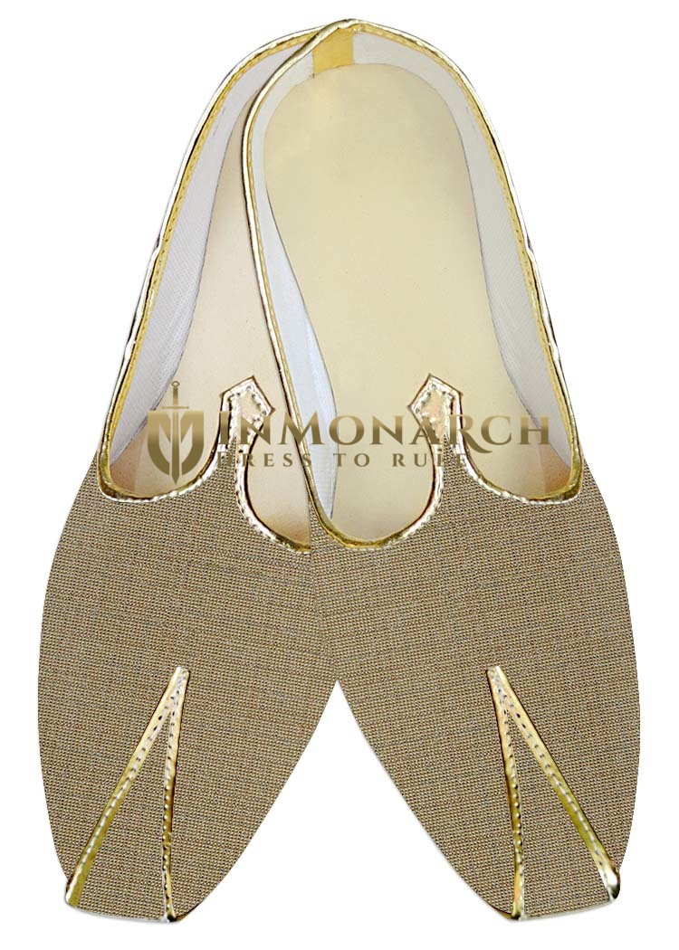 Mens Sherwani Shoes Bronze Jute Wedding ShoesJuti ForMen