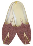 Mens Sherwani Shoes Burgundy Jute Wedding Shoes Juti For Men