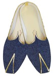 Traditional Shoes For Men Denim Blue Jute Indian Wedding Footwear