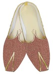 Indian Mens Shoes Crimson Red Jute Wedding Shoes Juti