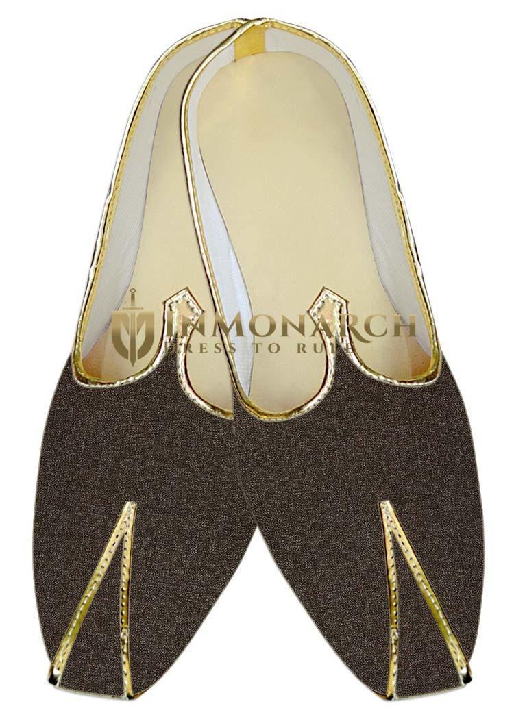 Mens Indian BridalShoes Purple Gray Jute Wedding Shoes