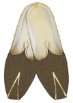 Indian Wedding Shoes For Men Olive Drab Checks Jute Wedding Shoes