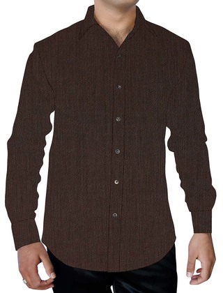 Mens Bronze Cotton Shirt Full Sleeve Casual