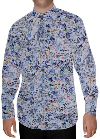 Mens Lavender Cotton Nehru Shirt Beachwear
