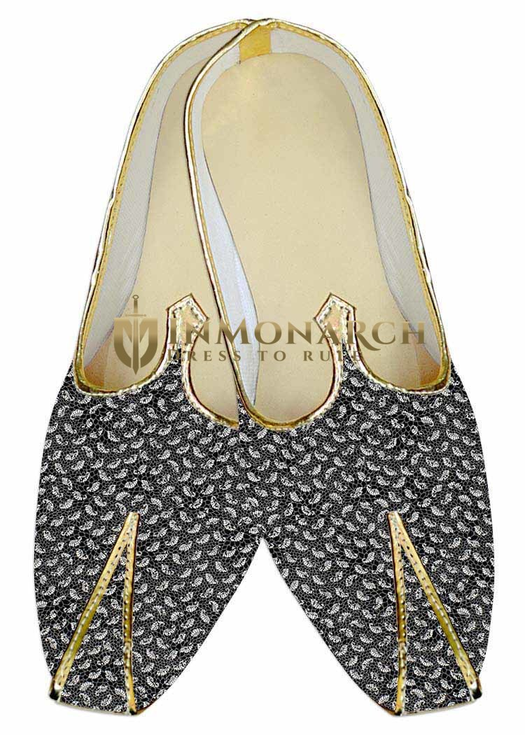 Indian Wedding Shoes For Men Gray Wedding Shoes Paisley Look
