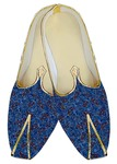 Mens Juti Royal Blue Wedding Shoes Red Paisley Sherwani Shoes