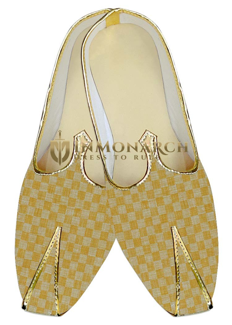 Traditional Shoes For Men Yellow Wedding Shoes Box Pattern Shoes