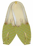 Juti For Men Yellow Wedding Shoes Printed Paisley Wedding Shoe