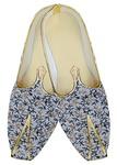 Mens Indian BridalShoes Lavender Wedding Shoes Flower Printed
