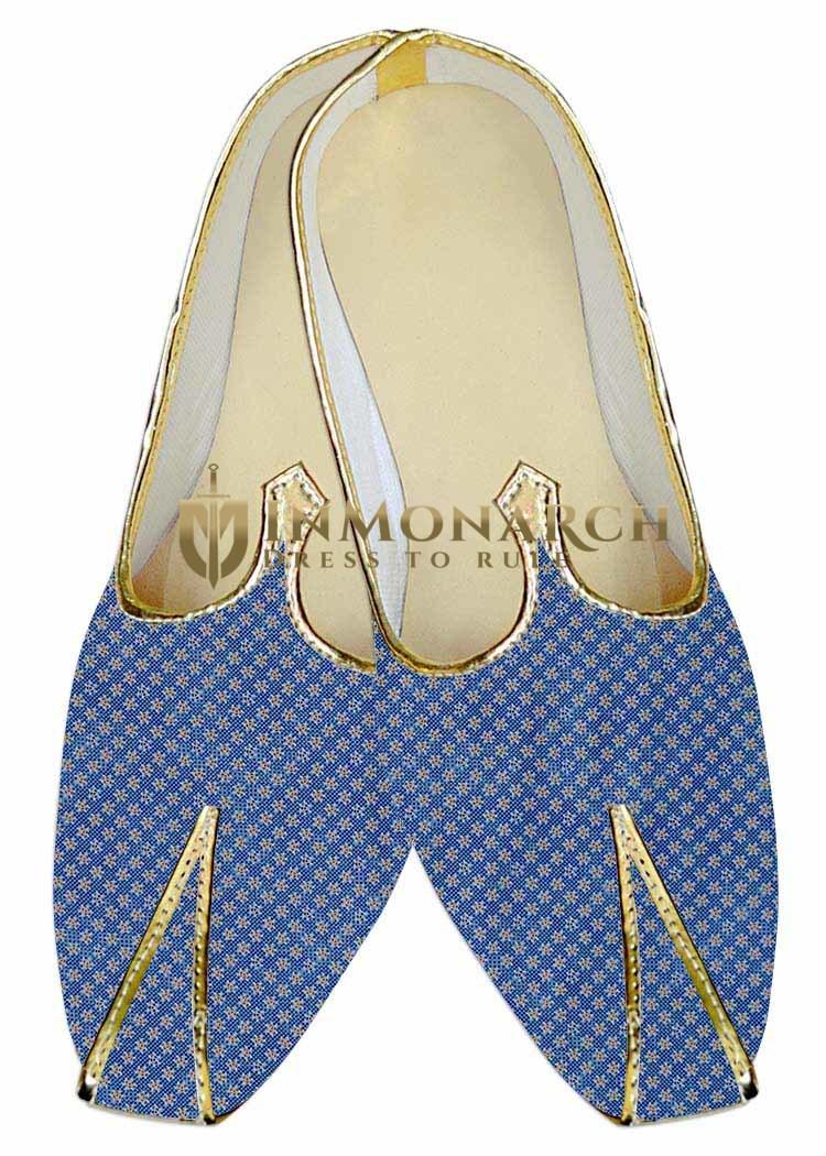 Juti ForMen Steel Blue Wedding Juti Star Pattern Wedding ShoeFor Groom