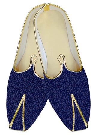 Indian Wedding Shoes For Men Royal Blue Wedding Shoes Flower Printed