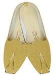 Mens Sherwani Shoes Yellow Wedding Shoes Floral Printed Juti