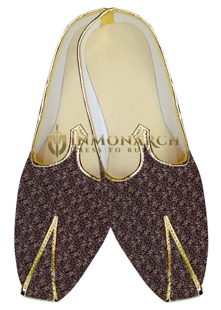 Mens Purple Wine Wedding Shoes Floral MJ015969