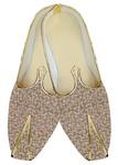 Mens Indian BridalShoes Beige Wedding Shoes Multi Design