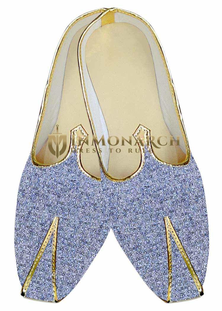 Mens Sky Blue Wedding Shoes Partywear MJ015974