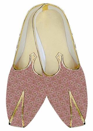 Juti ForMen Plum Wedding Shoes Circle Printed Wedding ShoeFor Groom