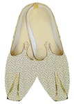 Indian Wedding Shoes For Men Cream Wedding Shoes Printed Cotton