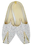 Mens Sherwani Shoes White Wedding Shoes Red Design Printed