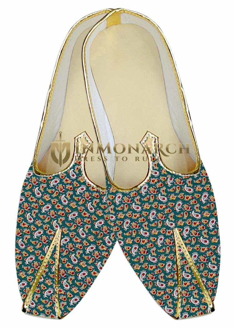 Indian Wedding Shoes For Men Teal Wedding Shoes Paisley Look