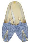 Mens Wedding ShoeFor Groom Sky Blue Wedding Shoes Leaf Pattern