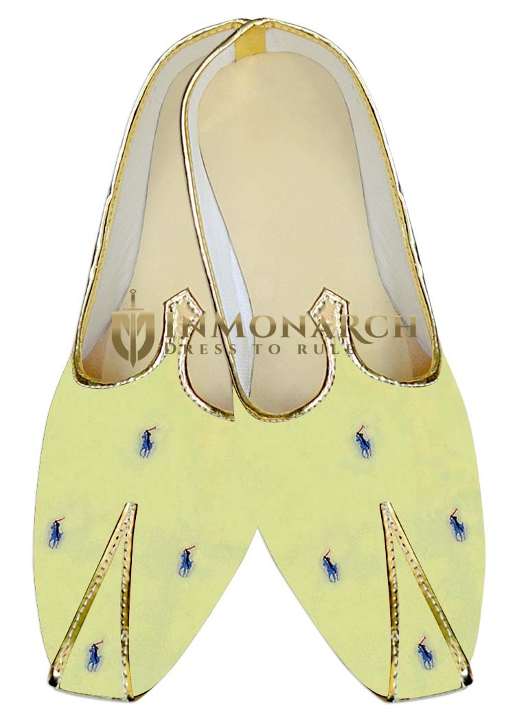 Indian MensShoes Yellow Wedding Shoes Polo Design Mens Juti