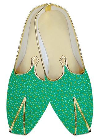 Mens Green Wedding Shoes Star Print