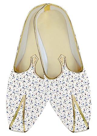 Mens White Wedding Shoes Blue Designs