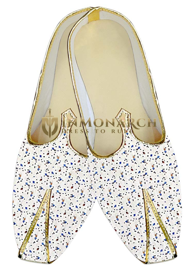 Indian Mens Shoes White Wedding Shoes Blue Designs Juti