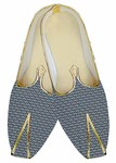 Indian Wedding Shoes For Men Steel Blue Wedding Shoes Printed Cotton