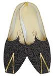 Mens Indian BridalShoes Black Wedding Shoes Offwhite Design