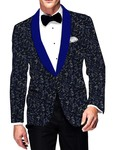 Mens Slim fit Casual Gray Velvet Blazer sport jacket coat Partywear Two Button