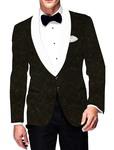 Mens Slim fit Casual Olive Drab Velvet Blazer sport jacket coat Design