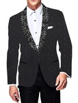 Mens Slim fit Casual Purple Gray Velvet Blazer sport jacket coat Polka Dot Print