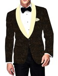 Mens Slim fit Casual Olive Drab Blazer sport jacket coat Partywear Pailsey