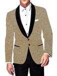 Mens Slim fit Casual Beige Velvet Blazer sport jacket coat Sportscoat Look