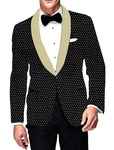Mens Slim fit Casual Black Velvet Blazer sport jacket coat Stylish Design