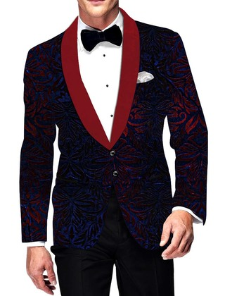 Mens Slim fit Casual Regency Velvet Wedding Blazer sport jacket coat