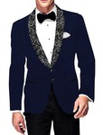 Mens Slim fit Casual Dark Navy Velvet Blazer sport jacket coat Stylish Look