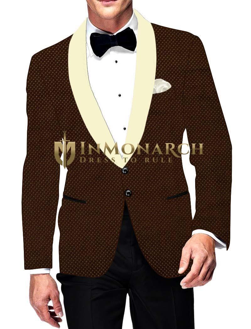 Hommes marron blazer velours regardez classique inmonarch - Blazer homme marron ...