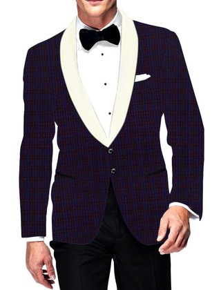 Mens Slim fit Casual Regency Blazer sport jacket coat Two Button Checks