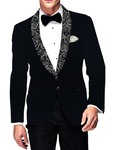 Mens Slim fit Casual Dark Navy Blazer sport jacket coat Checks Shawl Lapel