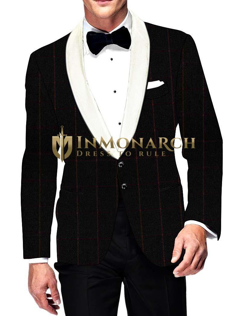 Mens Slim fit Casual Black Sports Blazer sport jacket coat Two Button